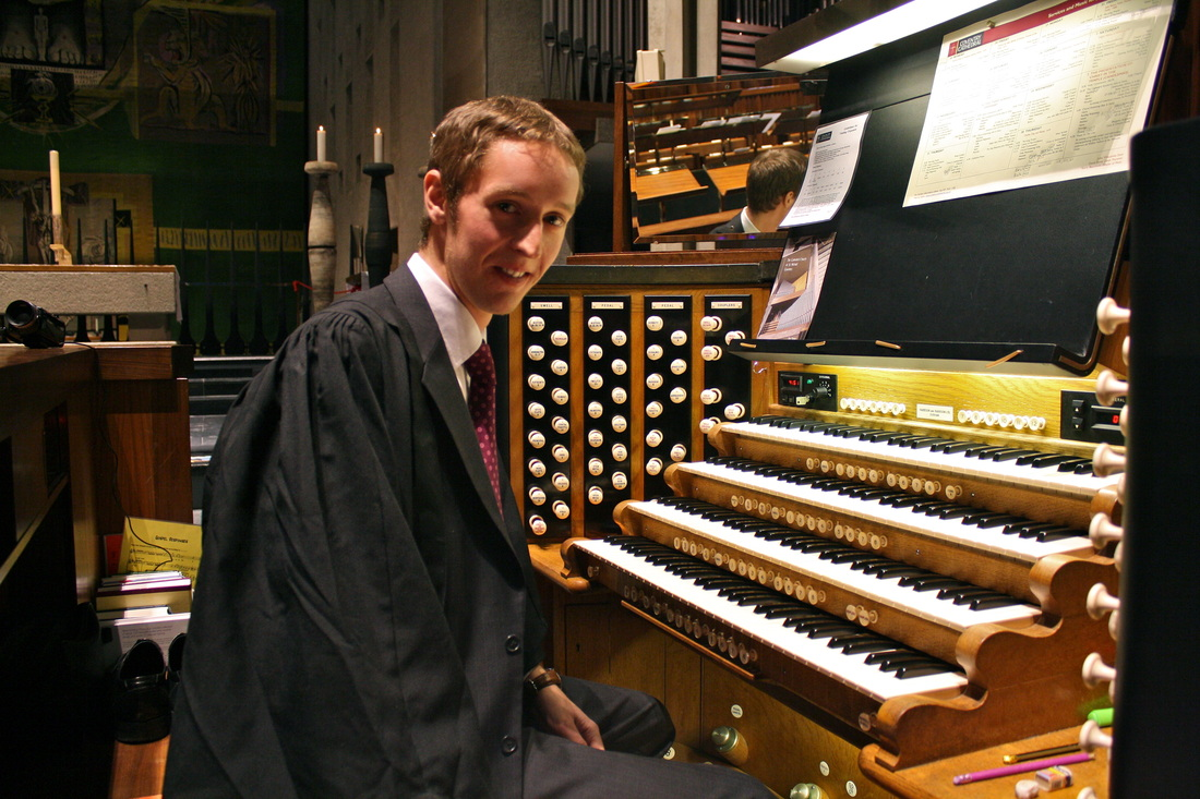 Robert Smith (Organ Scholar) at Coventry Cathedral